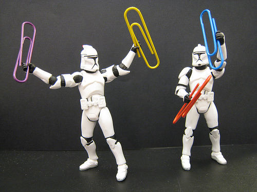 Stormtroopers With Paperclips (Office Equipment!)